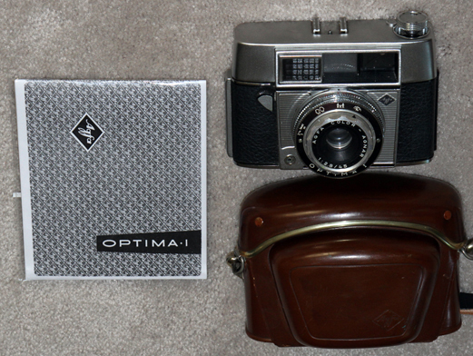 agfa optima i, vintage 35 mm film camera 1960
