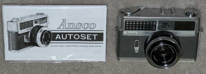 ansco autoset, minoltal hi-matic vintage film camera 1962