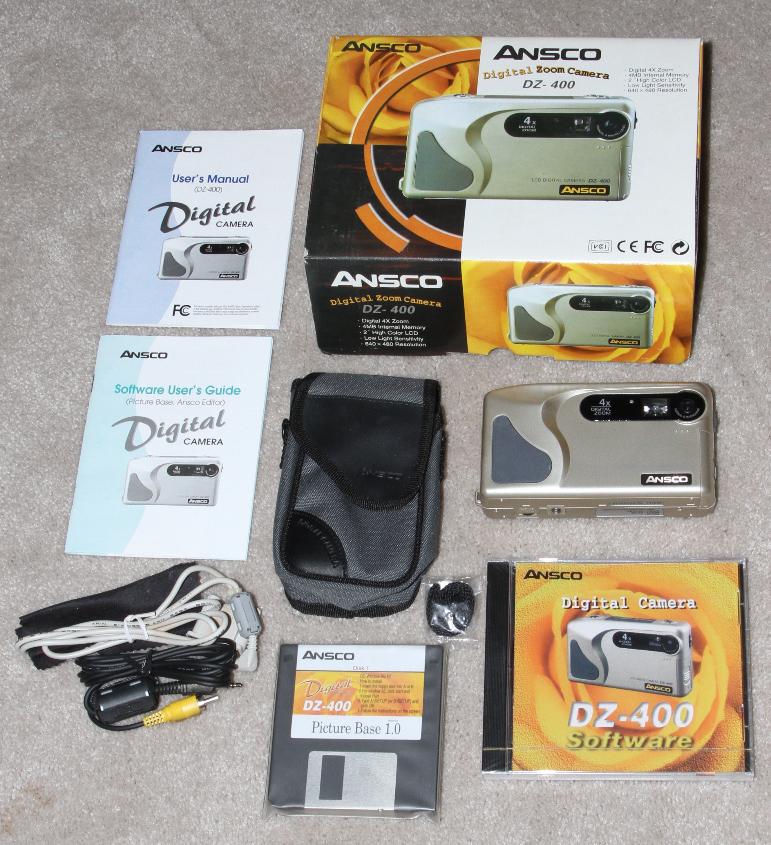 ansco dz-400 digital camera set 1997