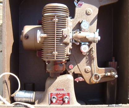 bell & howell master 400 filmo 122 8 mm movie projector