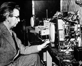 john logie baird with early television set