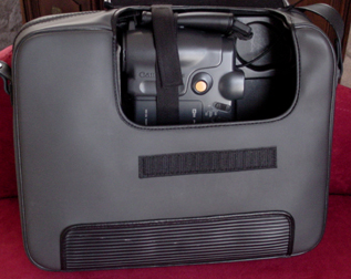 canon rc-250 carrying case with open flap 1988