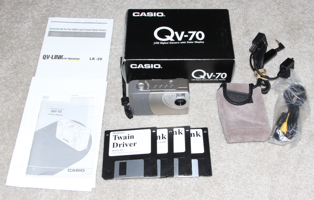 Casio QV-70 digital camera kit