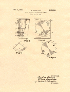 einstein camera patent, page one 1936