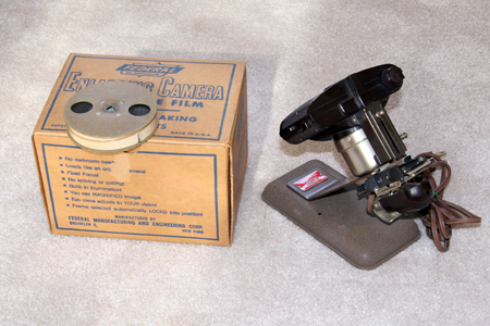 federal 16-a 8 mm to 127 film enlarger 1949