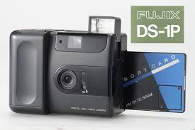 fujix ds-1p digital card camera with sram card 1988