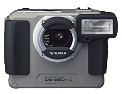 fuji ds-250hd water resistant vintgage heavy duty digital camera 1998
