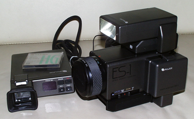 fujix es-1 still video camera side view 1985