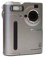 fuji finepix 700, mx-700 vintage digital camera silver, black gold 1998