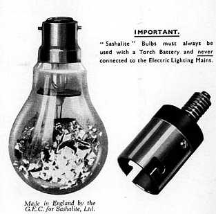 vintage G.E. sashalite photo flash bulb advertisement page 1