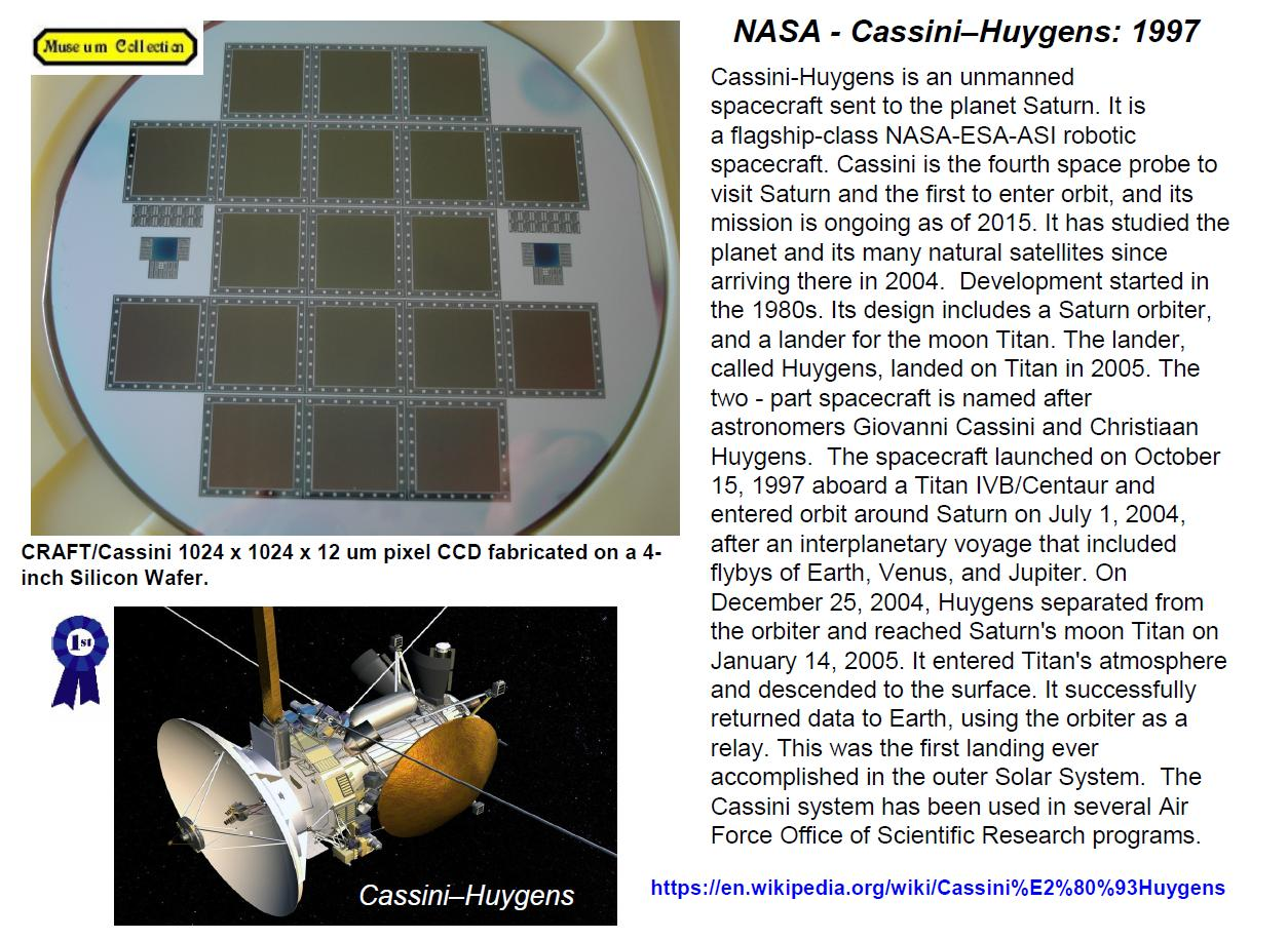 Janesick:  NASA Cassini-Huygens 1997 CCD wafer