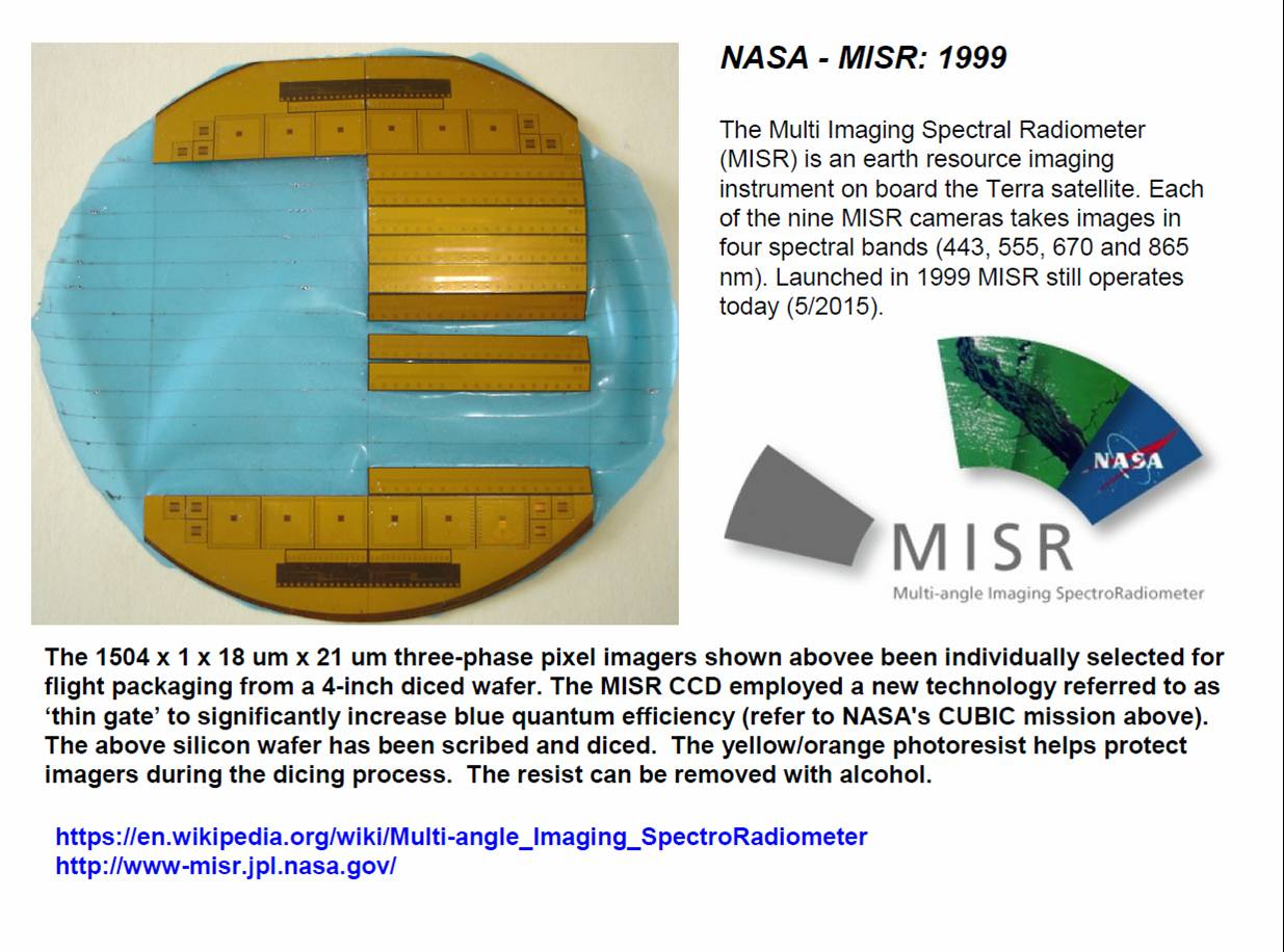 Janesick:  NASA MISR mission 1999 three-phase pixel imagers