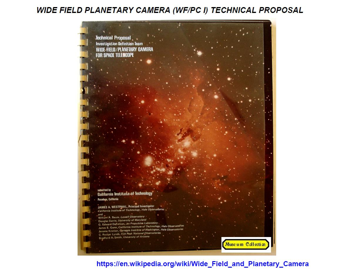 janesick: Wide field /Planetary Camera I proposal