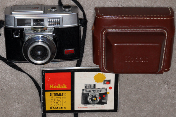 kodak automatic 35f vintage 35 mm film camera 1962