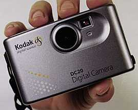 kodak dc20, chinon es-1000 digital camera 1996