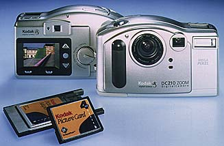 kodak dc210, kinon dc1100 digital camera 1997