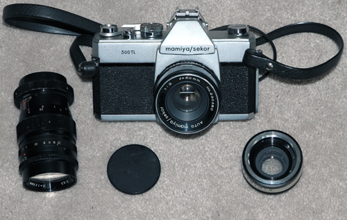 mamiya 500 tl vintage 35 mm film camera 1966