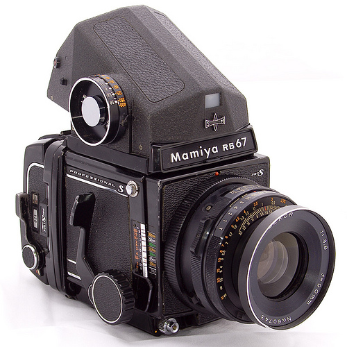 mamiya rb67 vintage medium format film camera available with kodak 463c and 465m digital backs 1974