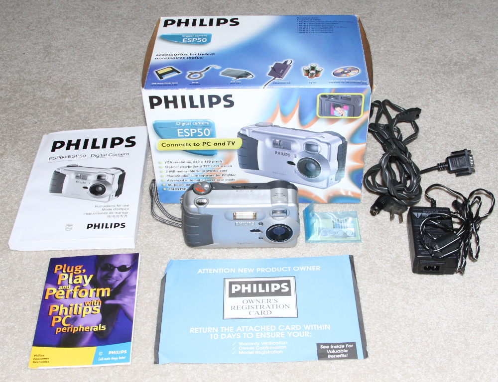 Philikps ESP50 and ESP 60 digital cameras kit