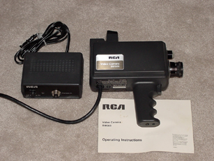 rca bw-003  vintage consumer video camera 1978