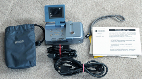 ricoh rdc-300, 300z, phillips esp2 blue digital camera set 1997