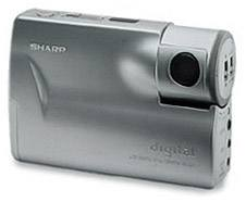 sharp ve-lc1, s, h, e, u digital camera  front view 1997