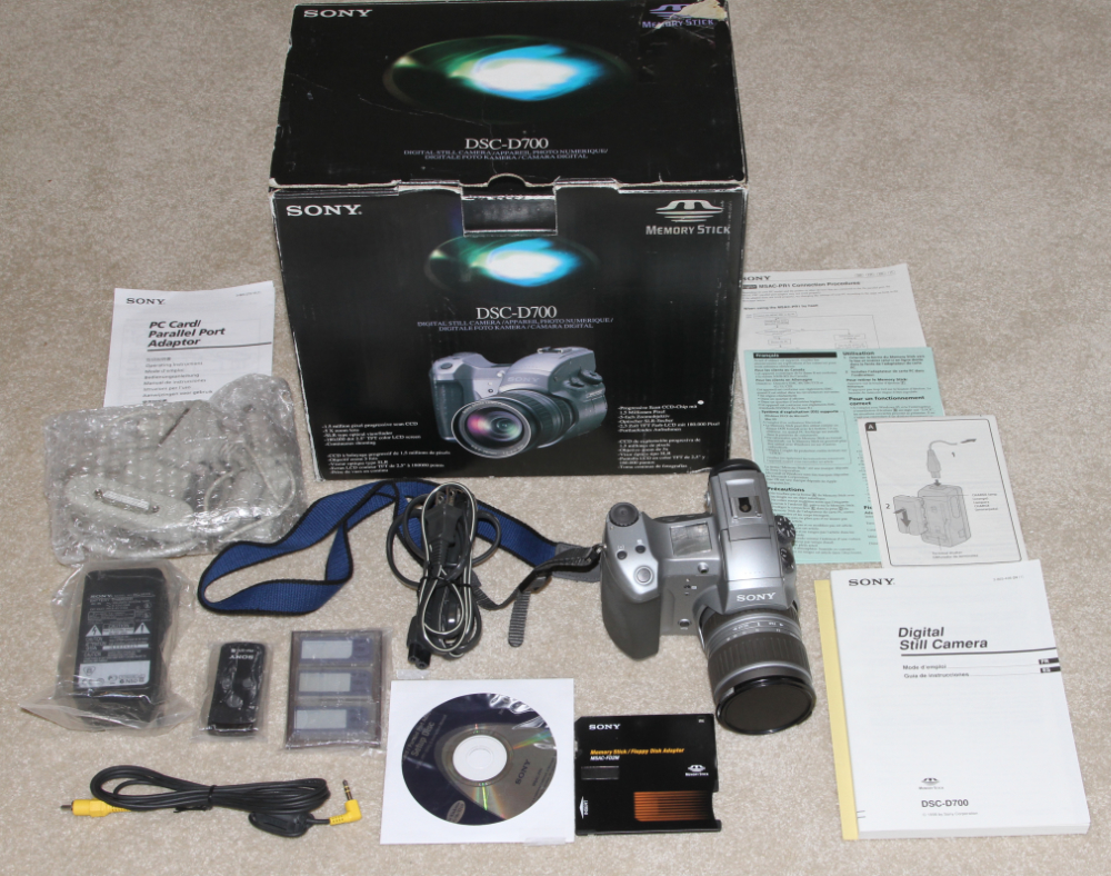 Sony DSC D700 digital camera kit