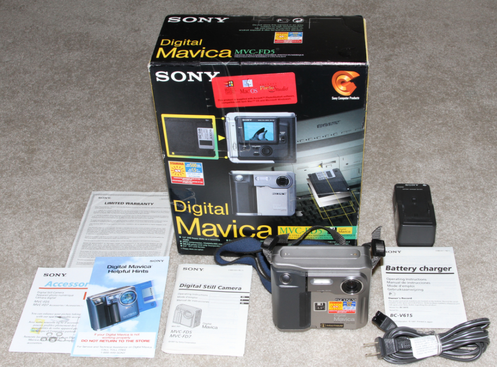 Sony Mavica MVC-FD5 digital camera kit