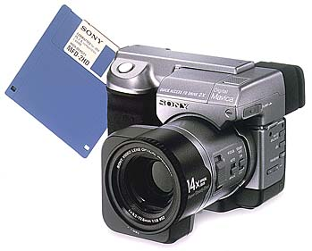 sony mavica mvc-fd91 zoom floppy disk vintage digital camera 1998