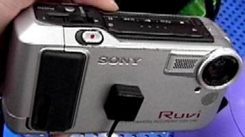 sony ruvi ddc-cr1 vintage camcorder stillvideo camera 1998