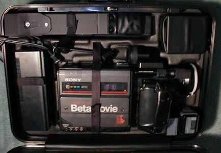 sony bmc-220 betamovie video camera 1985