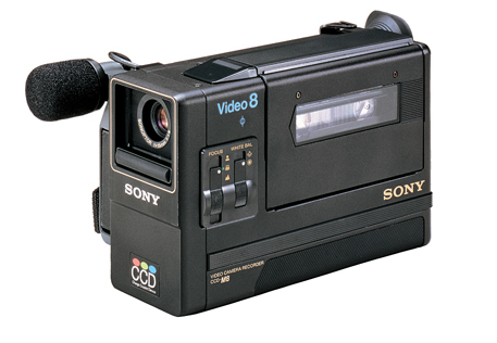sony ccd-m8 first pocket book 8 mm camcorder 1985
