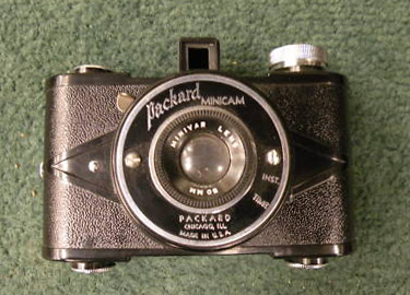 utility mfr co.  packard minicam vintage film camera 1939