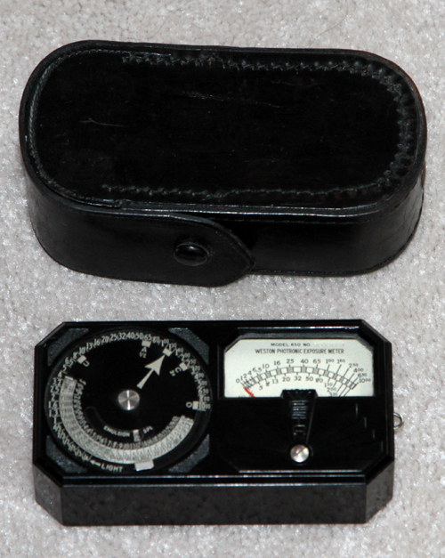weston model 650 vintage llight meter 1935