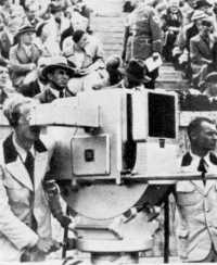 tv camera at 1936 berlin olympics